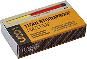 UCO Titan Stormproof Long Burning Waterproof and Windproof Matches (25 Count)