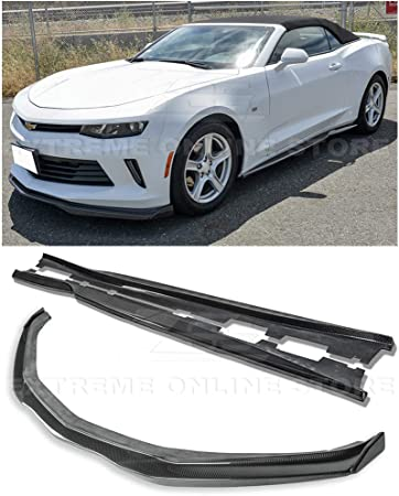 EOS T6 Style Carbon Fiber Add On Front Bumper Lower Lip Splitter Extreme Online Store for 2016-2018 Chevrolet Camaro SS