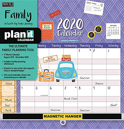 Family 2020 Plan-it 17-Month Calendar: Includes Event/Reminder Stickers and Magnetic Hanger (Family Plan It Calendar)