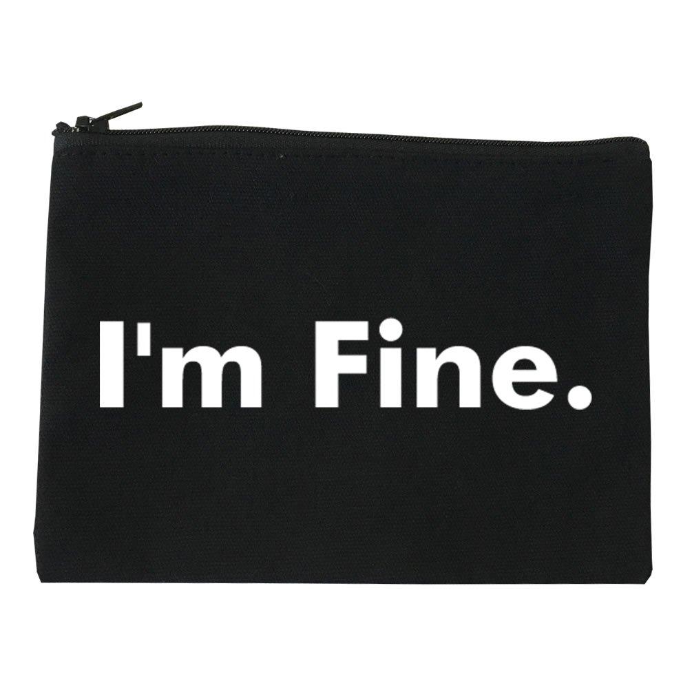 Im Fine Funny Cosmetic Makeup Bag Black Large