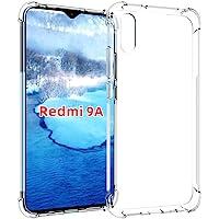 USTIYA Funda para Xiaomi Mi Redmi 9A Case Carcasa Bumper,Shock-Absorción TPU Transparente con Cuatro Esquinas…