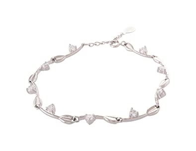 fd685cabdb8dd Arisidh Fancy Design 92.5 Sterling Silver Bracelet for Women and ...
