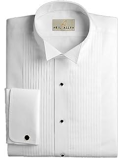 Neil Allyn Mens Tuxedo Shirt - 100% Cotton 1/4 Inch Pleat (19.5