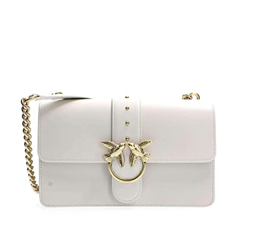 Pinko BORSA LOVE SIMPLY 10 IN PELLE CON TRACOLLA A CATENA BIANCO   Amazon.it  Scarpe e borse 0efdd853cf3