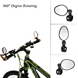 Generic 2Pcs/Lot Bicycle Rear View Mirror Cycling Rectangle Mirror Reflector Safty Bike Rearview Mirror For Bicycle Handlebar