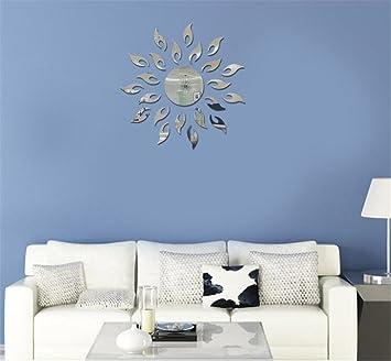 Amazoncom Toprate Sunshine Fire Round Flower Acrylic D Mirror - Wall decals mirror