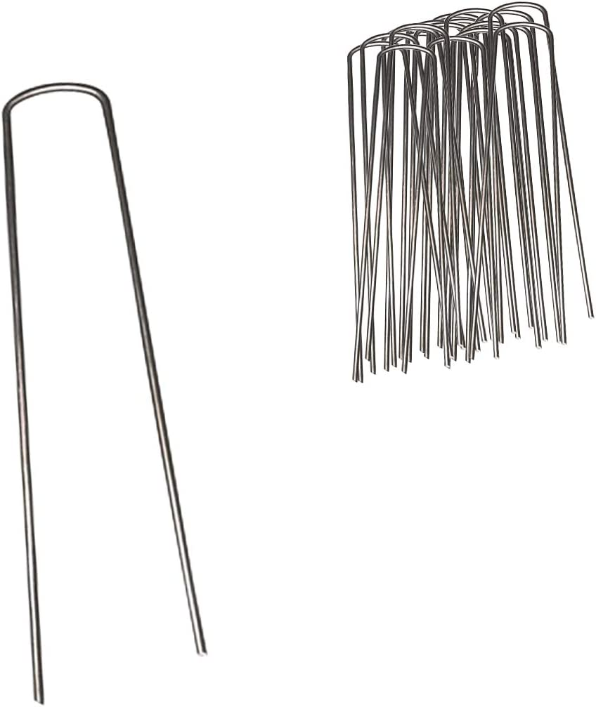 Aquascape 74008 U-Shaped 100 Count Protective Pond Netting Stakes, Black