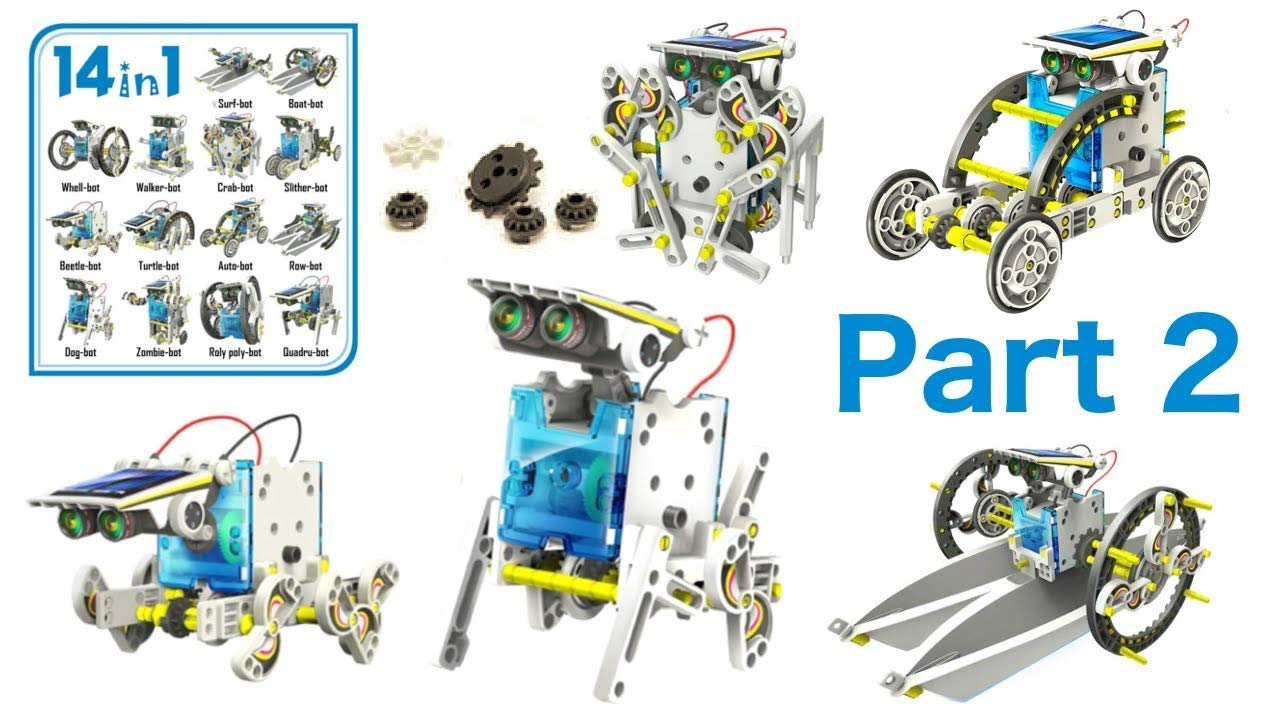 14-in-1 Educational Solar Robot | Build-Your-Own Robot Kit | Powered by The Sun
