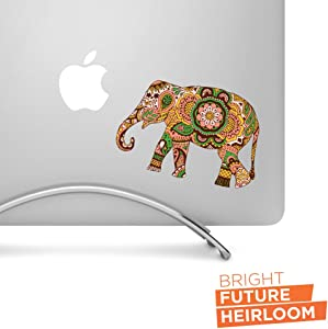 "Boho Elephant 02-5"" wide printed decal - For MacBook, Car, Laptop, and more!"