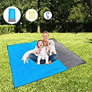 Fachoige 83x79in Beach Blanket, Sand Free Waterproof Beach Mat Pocket Fast Drying Oversize Portable Soft Light