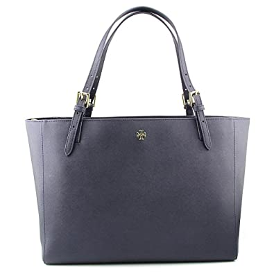 Tory Burch Women's York Buckle Tote in Tory Navy