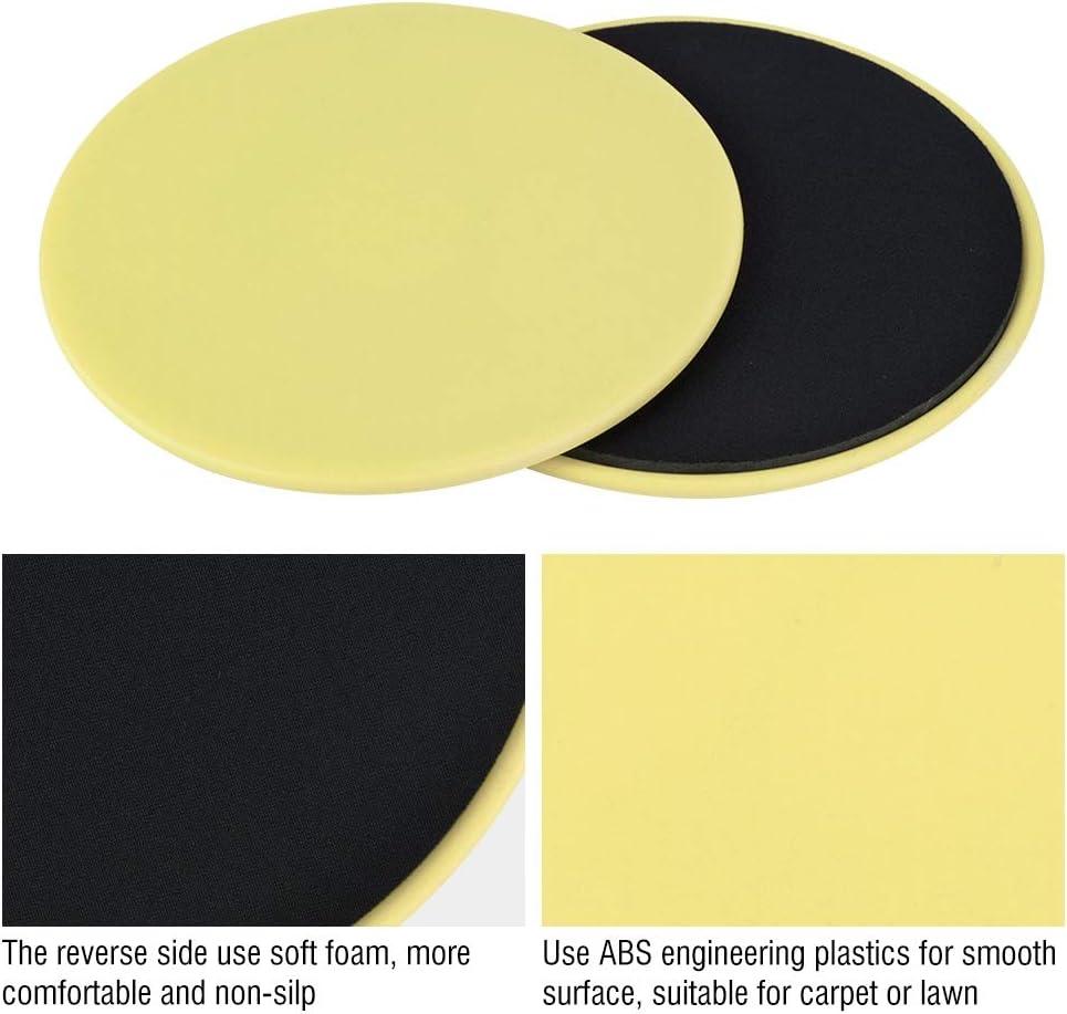 Rehomy Kerngleiter zur Verwendung auf Teppichb/öden oder Hartb/öden 2-teilige /Übungsgleitscheibe f/ür Ganzk/örpertraining