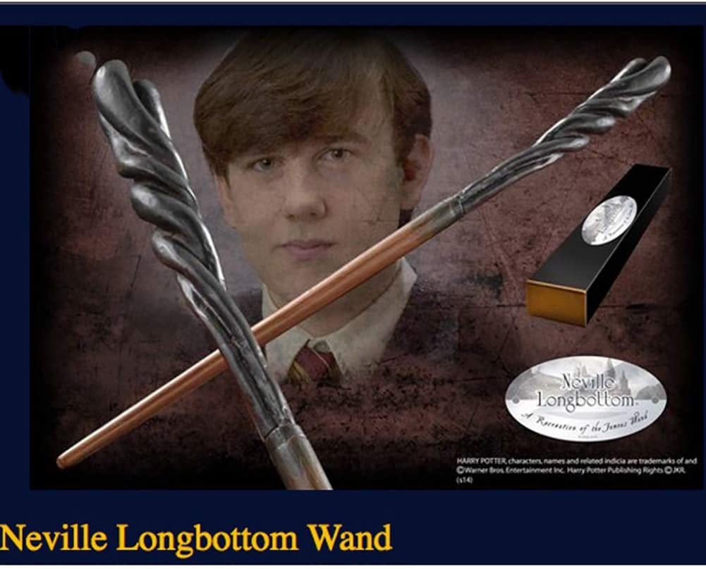 Neville Longbottom Wand Magic Wand Metal Heart Wizard Training Wand Best Gift for Children,Neville,36CM FHISAO Cosplay Props,Harry Potter Movie Prop