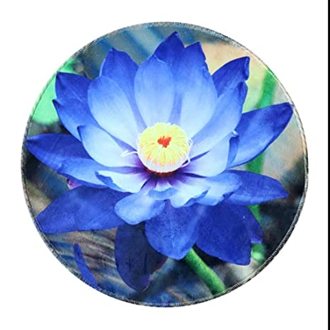 Remarkable Amazon Com Classic Round Home Art Carpet Lotus Pattern Andrewgaddart Wooden Chair Designs For Living Room Andrewgaddartcom