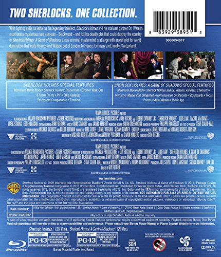 Sherlock Holmes Collection (Sherlock Holmes / Sherlock Holmes: A Game Of Shadows) Blu-ray [Import]