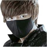 Unisex Anti-dust Cotton Earloop Face Mouth Mask 3pcs (Black)