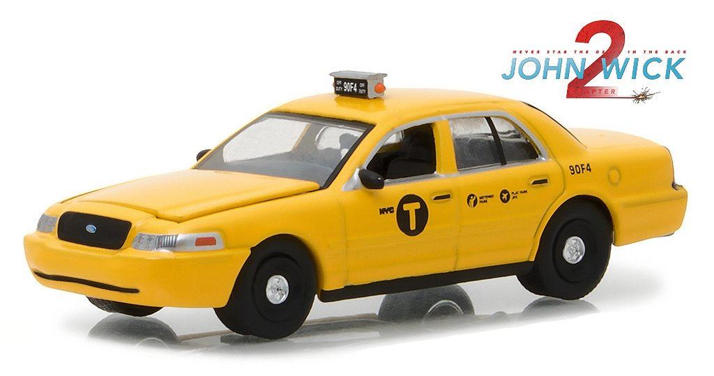 New 1 64 Greenlight Hollywood Series 19 Collection John Wick Chapter 2 2017 2008 Ford Crown Victoria Taxi Yellow Diecast Model Car By Greenlight