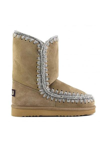 nouvelle arrivee 872be 228e9 Mou Women's Bottes Femme en daim Boots Beige Grey Brown Size ...