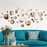 Solid circle wall stickers Circle Mirror DIY Living room/bedroom/decoration 28pcs