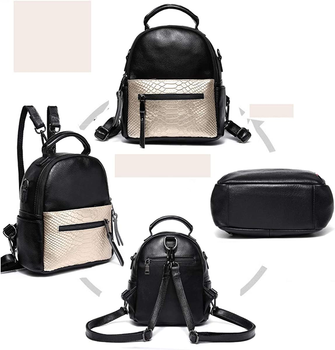 for Women /& Men Black ZHICHUANG Girls Multipurpose Backpack for Everyday Travel//Outdoor//Travel//School//Work//Fashion//Leisure Cowhide Stylish and Cute