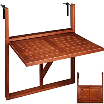 Charming Wooden Hanging Balcony Table From Acacia Hardwood