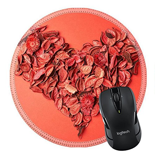 MSD Mousepad Round Mouse Pad/Mat 27043765 Heart shape made of red medley potpourri composition