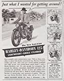1946 Harley Davidson: Just What I Wanted for Getting Around, Harley Davidson Print Ad