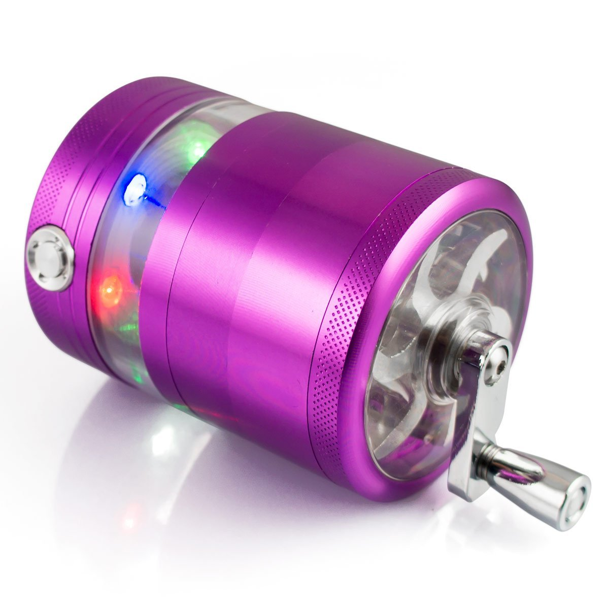 Formax420 Handle Grinder For Tobacco Spice Mill Crusher With LED 5 Parts 2.5 inch (Purple) AX-AY-ABHI-111957