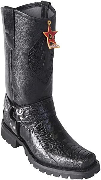 3da1799ba58 Amazon.com: Los Altos Men's Biker Design Black Genuine Leather ...