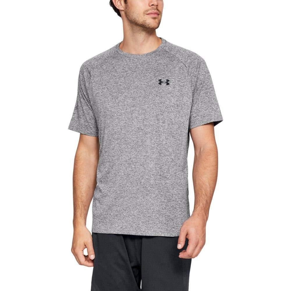 Under Armour Men's Tech 2.0 Short Sleeve T-Shirt, Charcoal Light Heath (019)/Black, 3X-Large by Under Armour (Image #5)