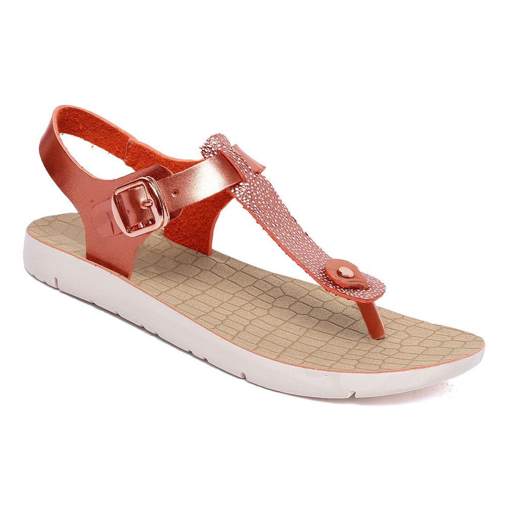 Rafaello Best Red Faux Vegan Leather Low Heel White Wedge T-Strap Open Round Toe Most Comfort Ver Zapatos Escolares de Mujer Sandal Shoe Top Back to School Women Girl Ladies (Size 8, Red)