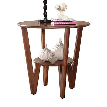 Fei Fei FEI Estantería Mesa de té de madera redonda Mesas de ...