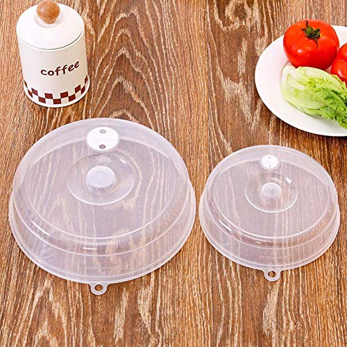 2 Pcs Food Cover PP Material Heat-Resistant Microwave Oven Splash-Proof Cover Kitchen Refrigerator Dish Preservation…