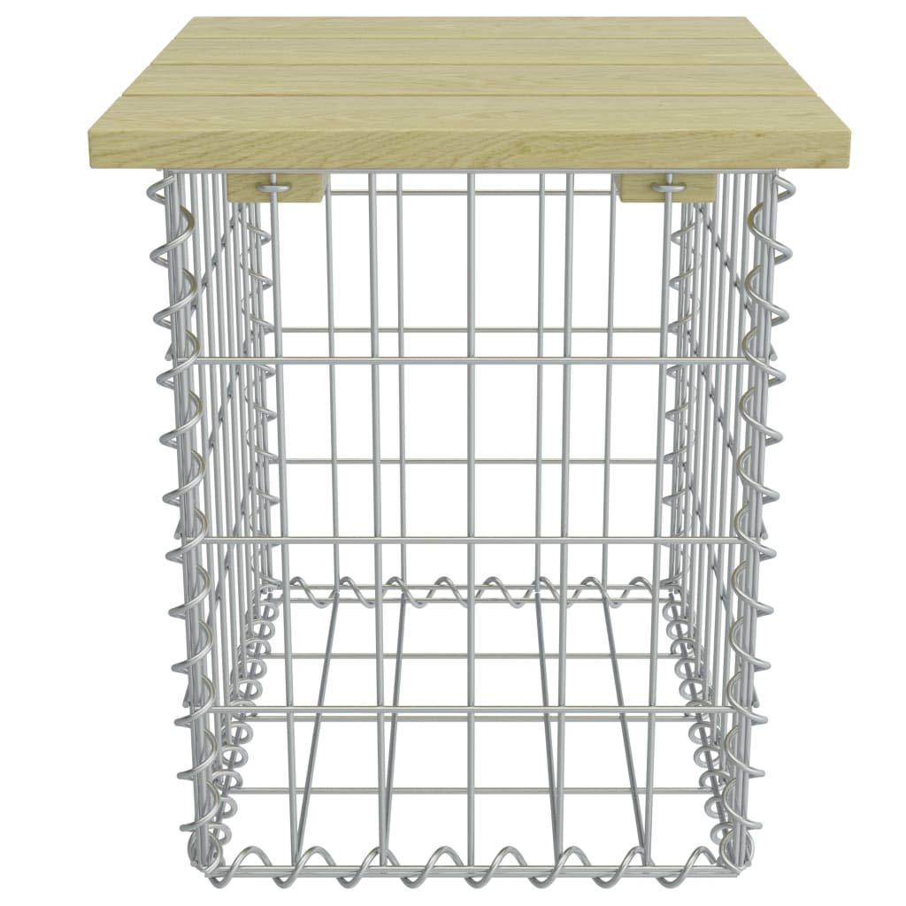 Silber Verzinkter Stahl und Hochwertiges Kiefernholz Festnight- Gabionen-Sitzhocker 40/×40/×45 cm Gartenhocker Hocker f/ür Garten Terrasse