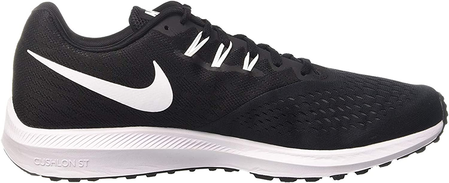 Nike Zoom Winflo 4, Zapatillas de Running para Hombre, Negro (Black/White/Dark Grey), 42 EU: Amazon.es: Zapatos y complementos