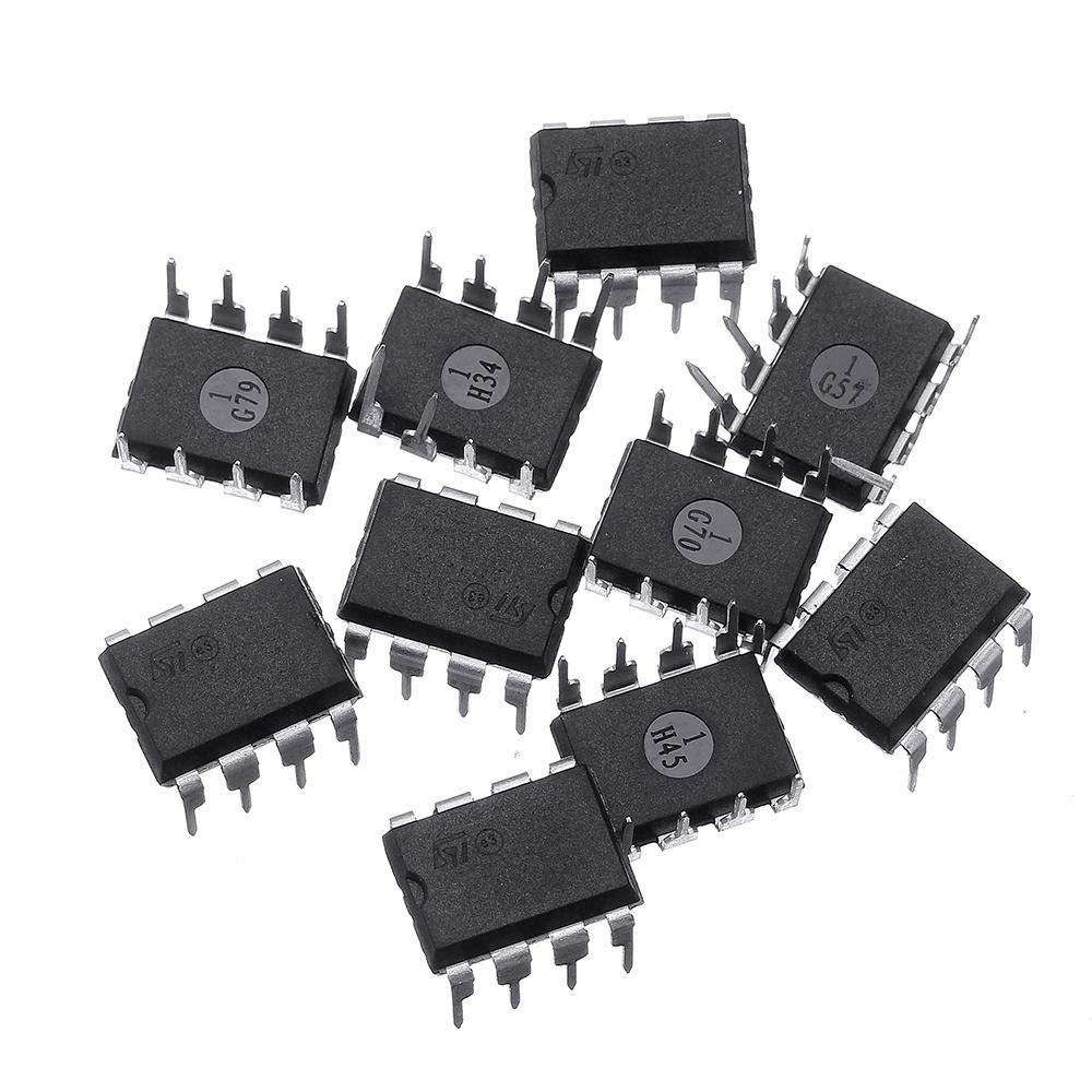 10 unidades UA741CN DIP 8 UA741 LM741 ST IC Chip ...