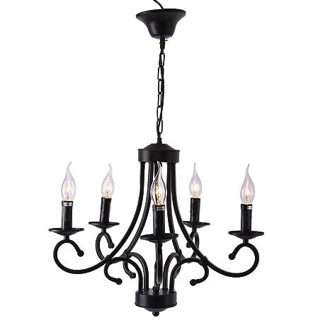 Ridgeyard - Moderna lámpara de araña colgante de techo, lámpara de cristal, fijación, iluminación, regalo para la casa