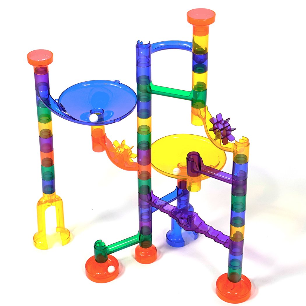 Marble Runs Set Kids Toys 80 Pcs Marble Race Track Game Marble Race Coaster Set Learning Toys Educational Construction Building Blocks Christmas Birthday Gifts STEM Toys Kids, 92 PCS by K Toys (Image #1)