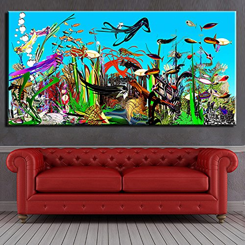 STJK$BMJW Abstract Mentalistic Oceanography Enchantments On Canvas Painting Living Room Bedroom Decor Paintings No Frame 28X56(Only Canvas)