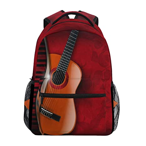 1ac0e27883b6 Image Unavailable. Image not available for. Color  WXLIFE Music Piano  Guitar Musical Backpack Travel School Shoulder Bag for Kids Boys Girls Women  Men