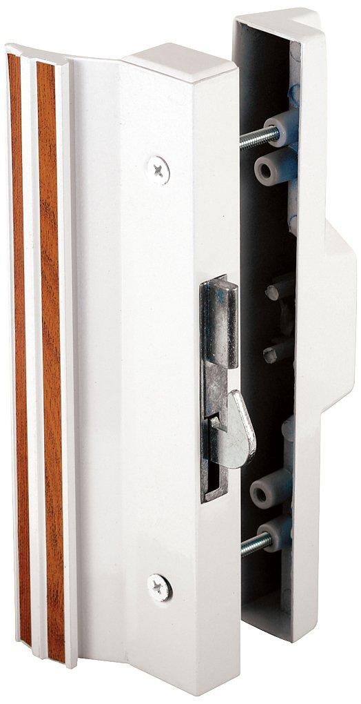 Prime-Line Products C 1118 Anti-Lift Sliding Door Handle Set, White Aluminum/Die cast