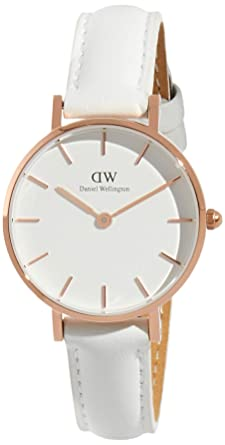 378c386faadb Amazon.com  Daniel Wellington Classic Petite Bondi in White 28mm ...
