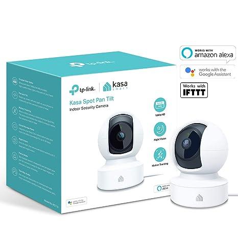 Echo Spot, Echo Show und Fire TV, Google Home//Chromecast und IFTTT, 1080p HD, Nachtsicht mit 2-Wege-Audio f/ür Baby//Haustier TP-Link Kasa Smart Indoor Cloud-Kamera kompatibel mit Alexa