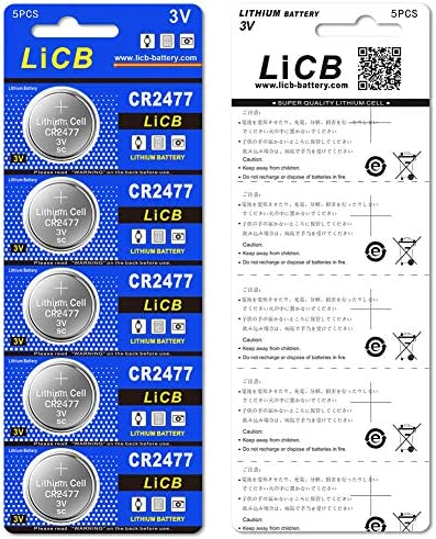 LiCB CR2477 3V Lithium Battery (Pack of 10)
