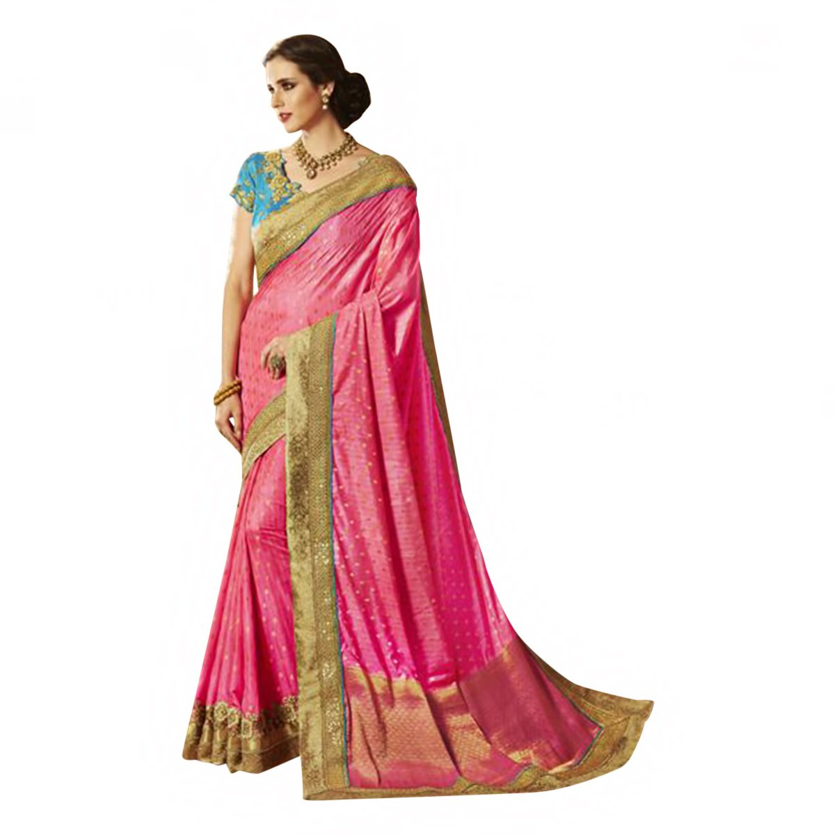 New Launch Bridal Silk Saree Sari Collection Blouse Wedding Party Wear Ceremony Women Muslim eid 586 18
