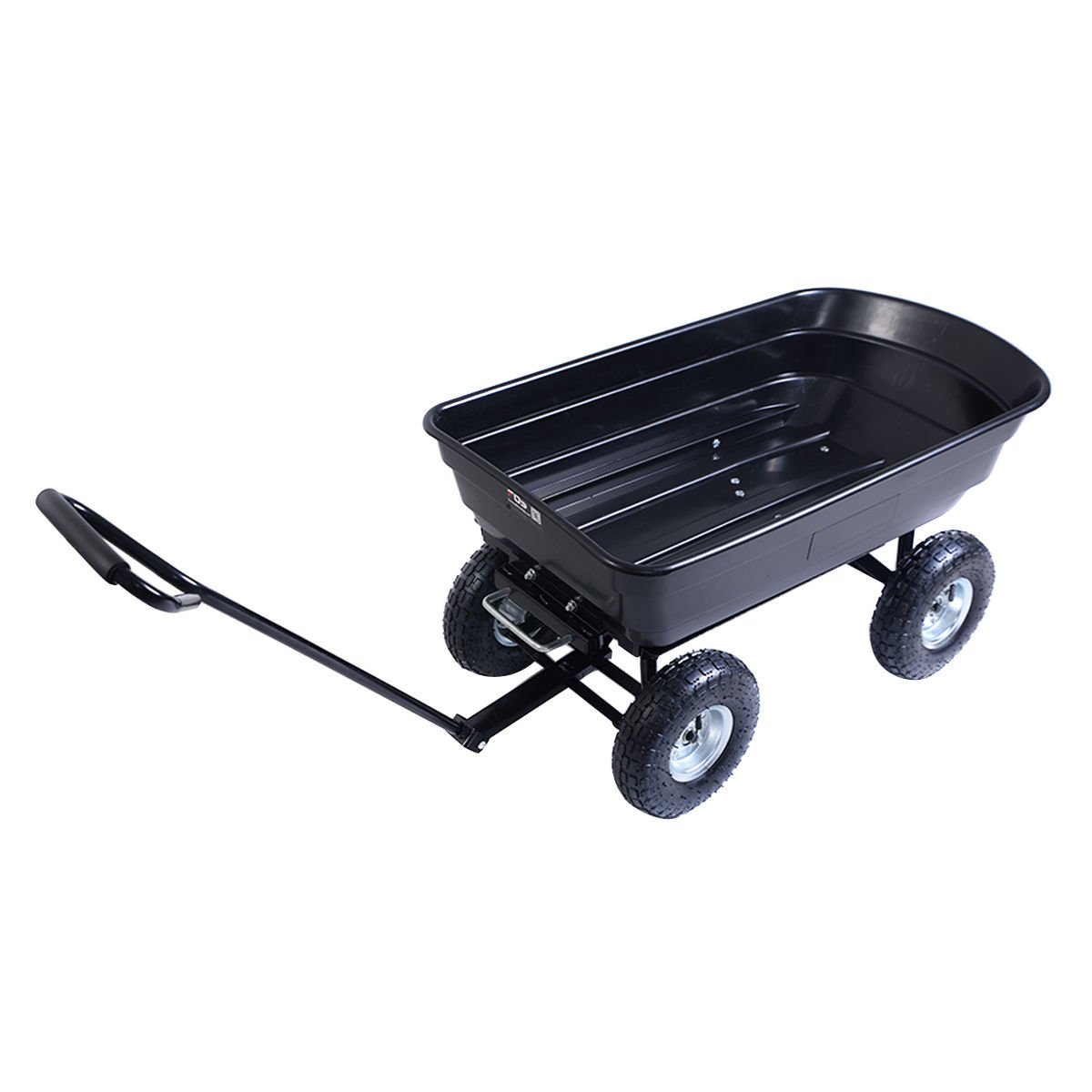 650 LB garden dump cart dumper wagon carrier wheel barrow air tires heavy duty for grandkids to play with and can also haul gardening tools or supplies in the yard.