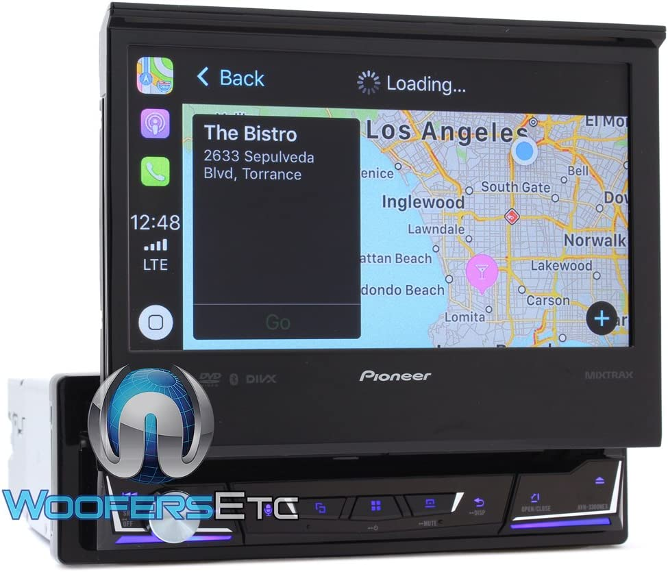 "Pioneer 7"" Flip Out DVD Receiver with CarPlay"