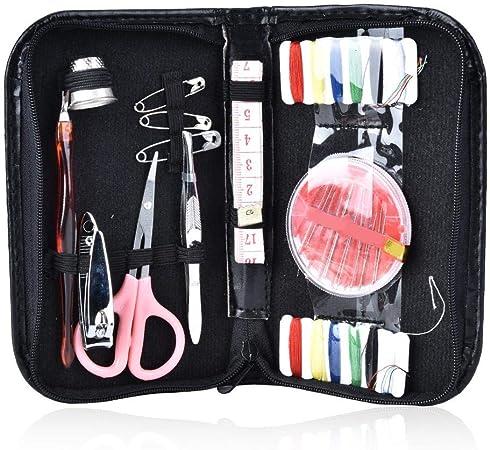 Kits de agujas de coser, productos Kit de costura con tijeras Agujas de hilo dedal Estuche de transporte de cinta métrica y accesorios: Amazon.es: Hogar