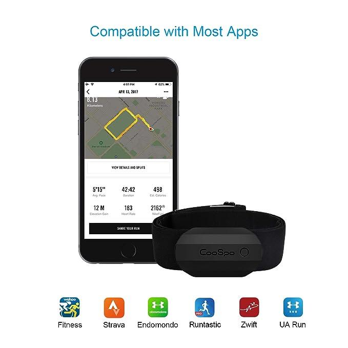 CooSpo Sensor de Frecuencia Monitor de Frecuencia con Banda Pectoral ...