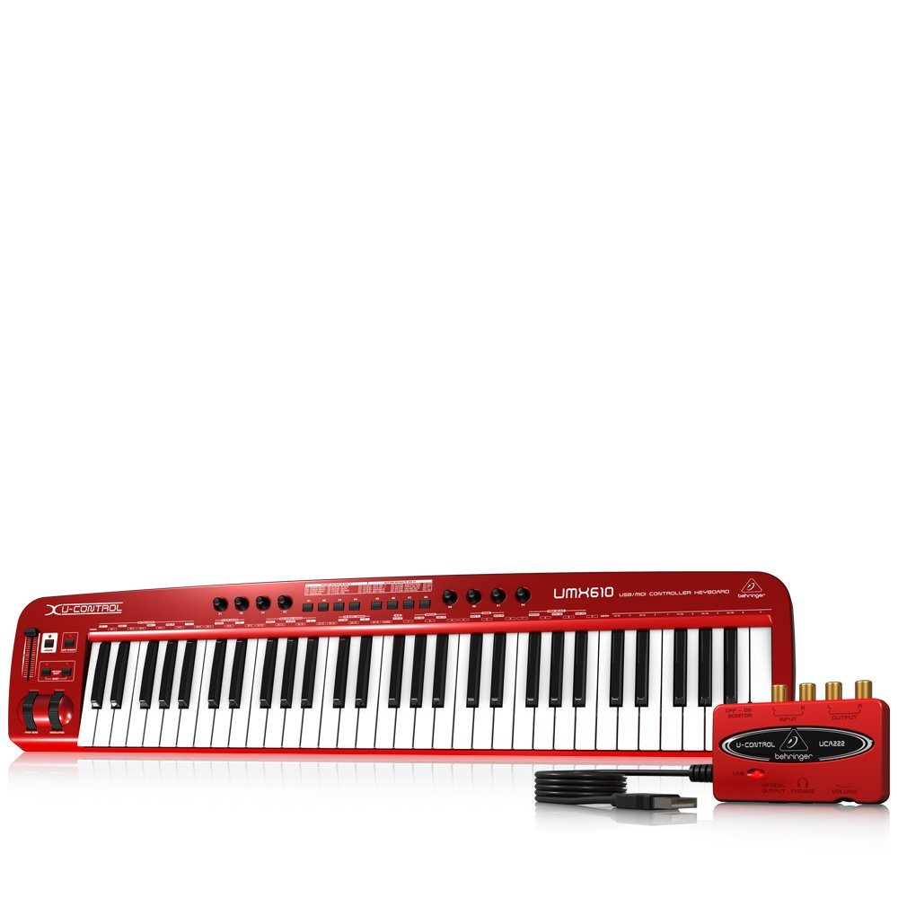 Behringer UMX610 U-Control Synthétiseur MIDI/USB 61 Touches Rouge MUSIC Group